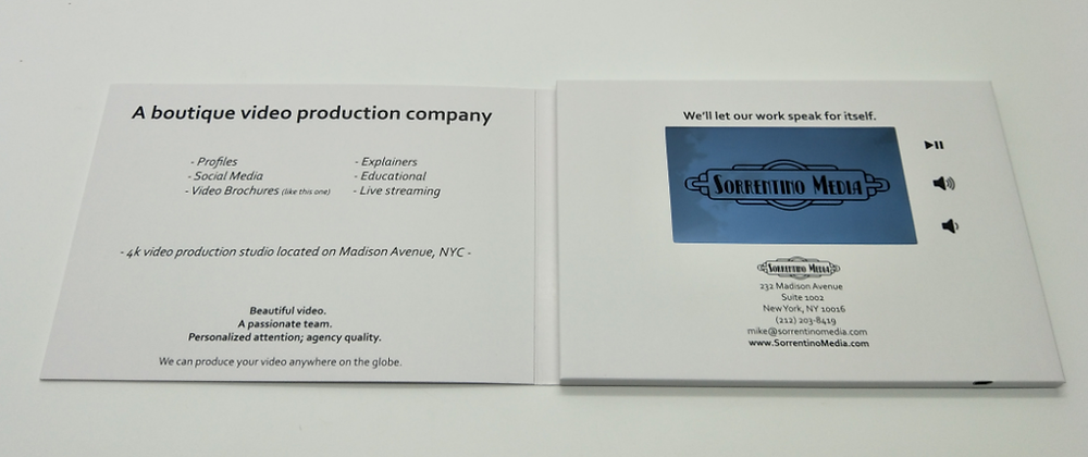 Video Brochure Sample