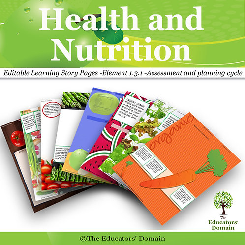 Health and Nurtrition  Learning Story Pack with Posters