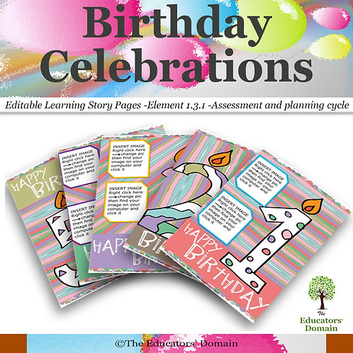 Birthday's Learning Story Pack