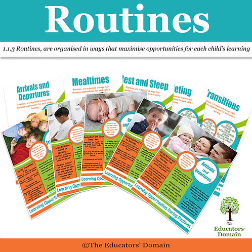 Learning through Routines Poster Set