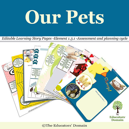 Our Pets Learning Story Pack