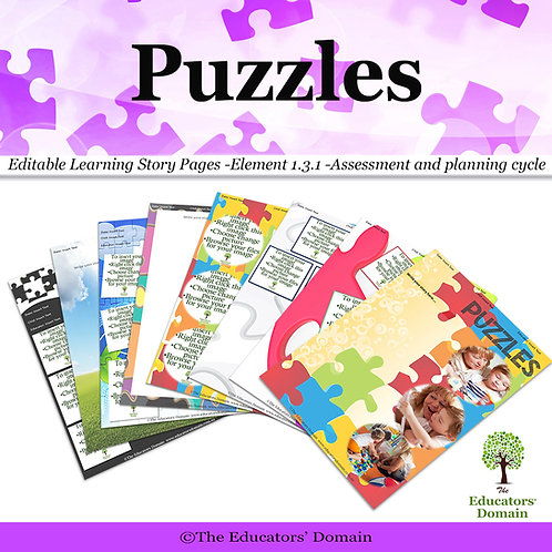Puzzles Learning Story Pack with Poster