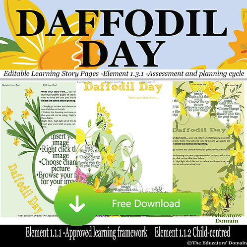 Daffodil Day Learning Story Pack