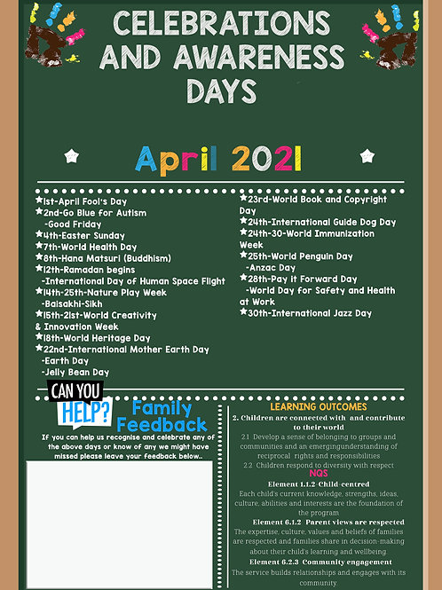 April Events and Awareness Days