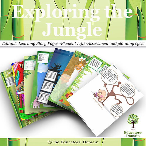 Exploring the Jungle Learning Story Pack