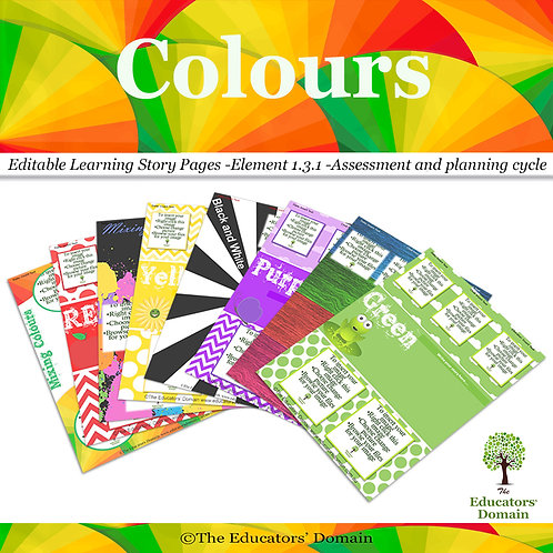 Colours Learning Story Pack