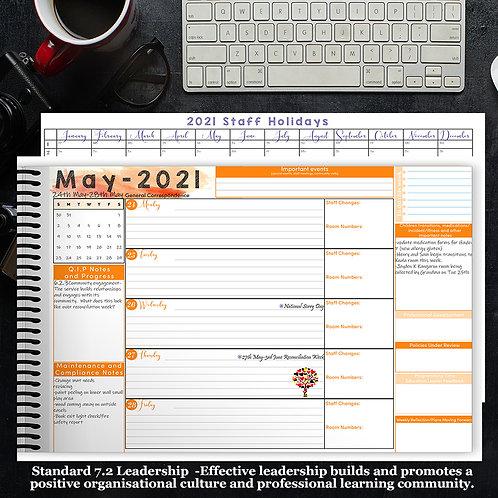 2021 Desk Planner