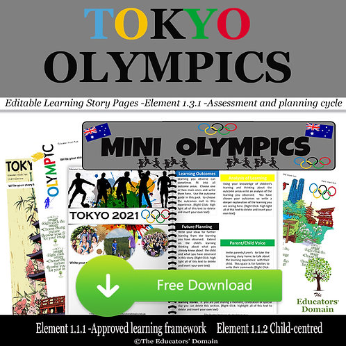 Tokyo Olympics Learning Story Pack