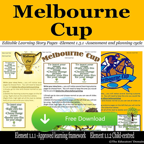 Melbourne Cup Day Learning Story Pack