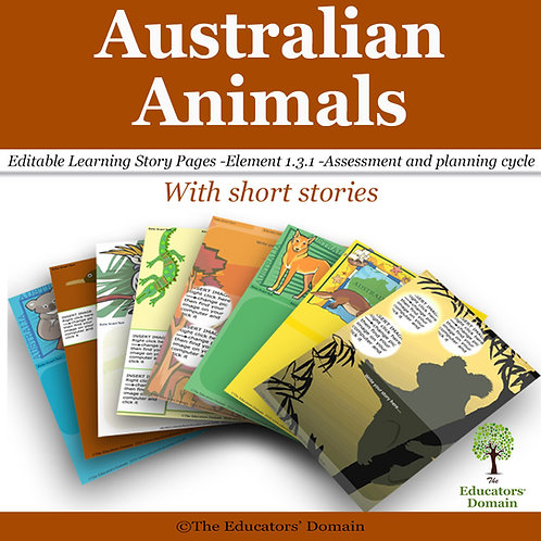 Australian Animals Learning Story Pack with short stories