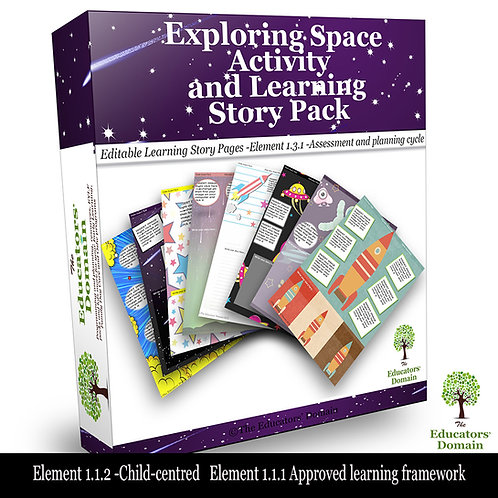 Exploring Space Activity and Learning Story Pack