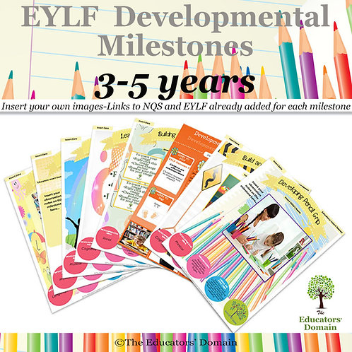 EYLF Developmental Milestones 3-5 years