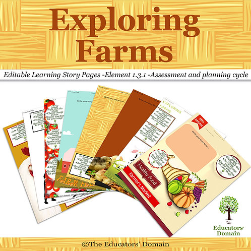 Exploring Farms Learning Story Pack