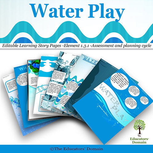 Water Play Learning Story Pack