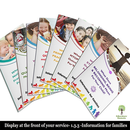 NQF Trifold Flyer Set for Families
