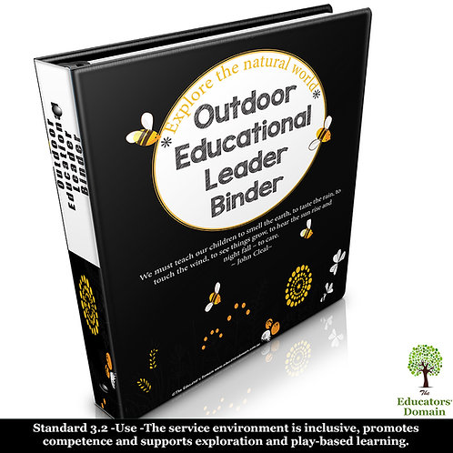 Outdoor Educational Leader Binder with Posters