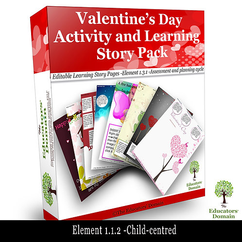 Valentines Day Activity and Learning Story Pack