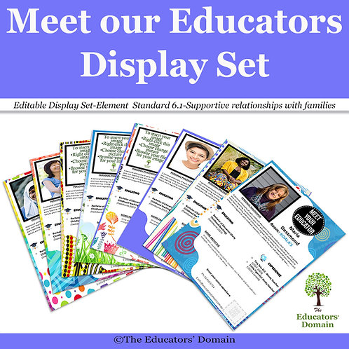 Meet our Educators Display Set