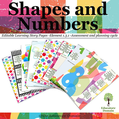 Shapes and Numbers Learning Story Pack