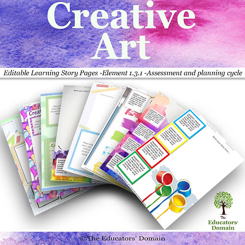 Creative Art Learning Story Pack