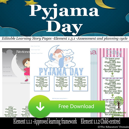 Pyjama Day Learning Story Pack