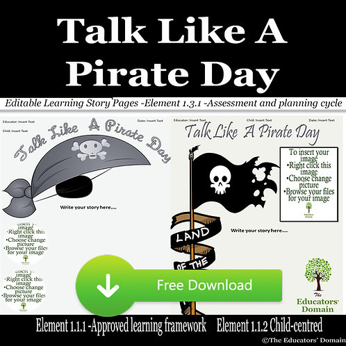 Talk Like a Pirate Day Learning Story Pack