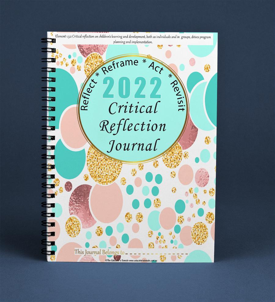 2022 Critical Reflection Journal- Spots and Glitter Cover Screenshot