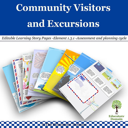 Community Visitors and Excursions Learning Story Pack