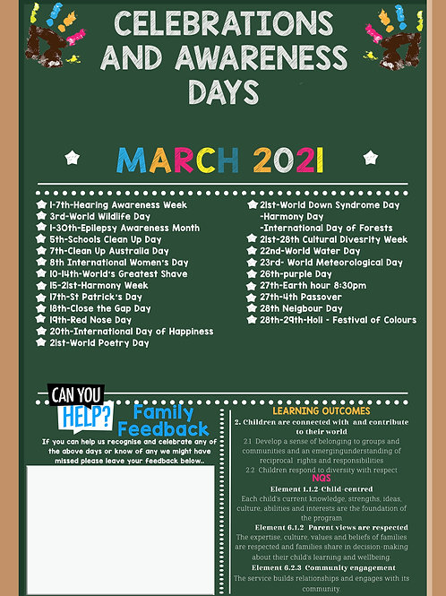 March Events and Awareness Days