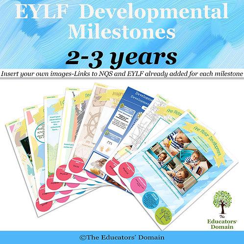 EYLF Developmental Milestones 2-3 years