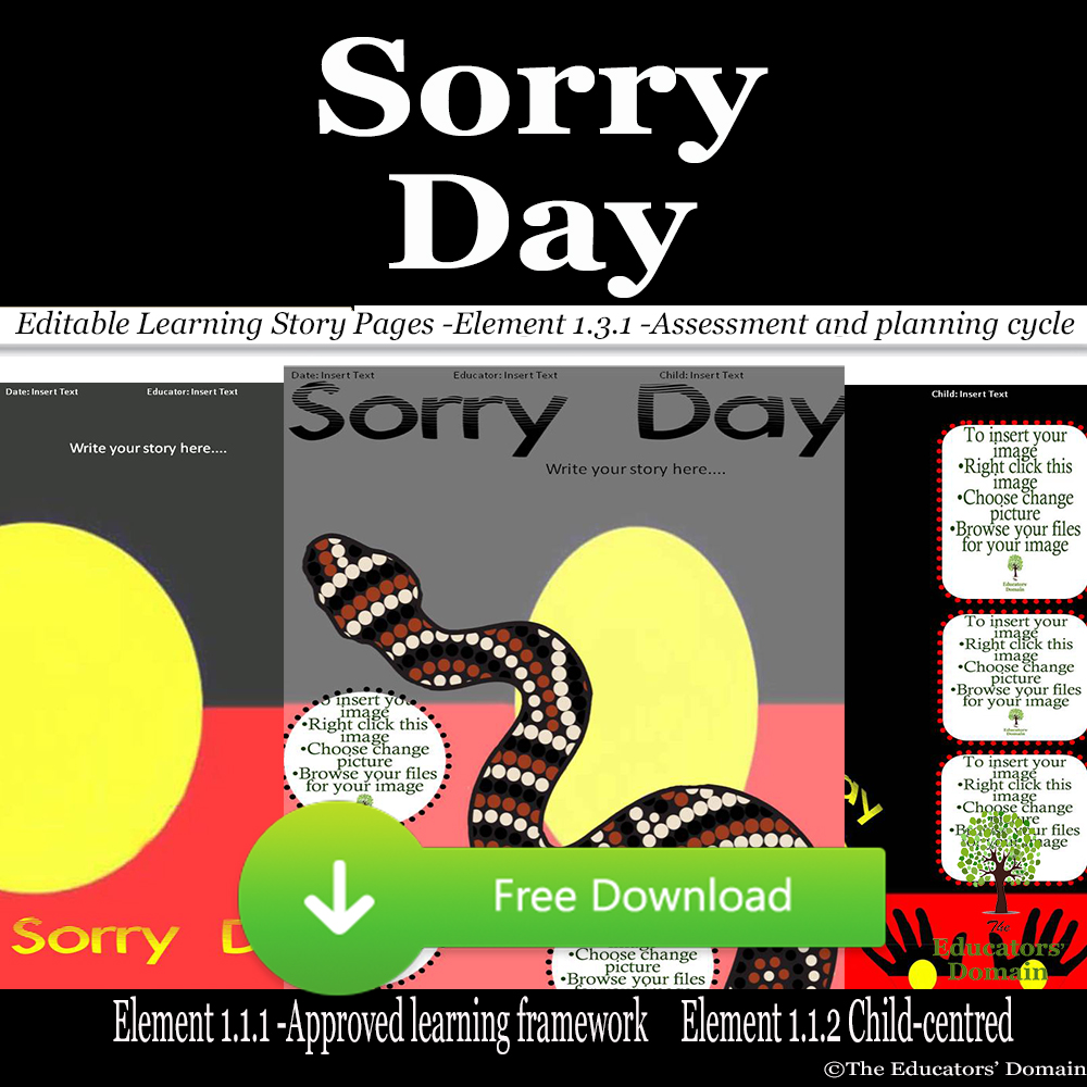 Sorry Day Learning Story Pack- Free Screenshot
