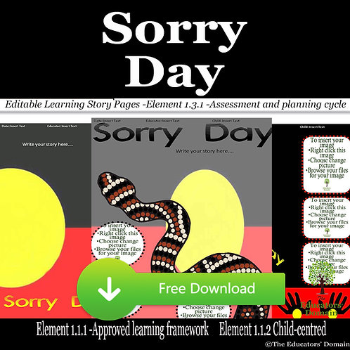 Sorry Day Learning Story Pack