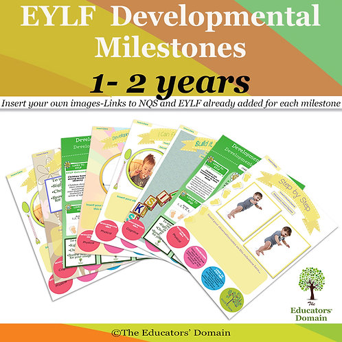 EYLF Developmental Milestones 1-2 years