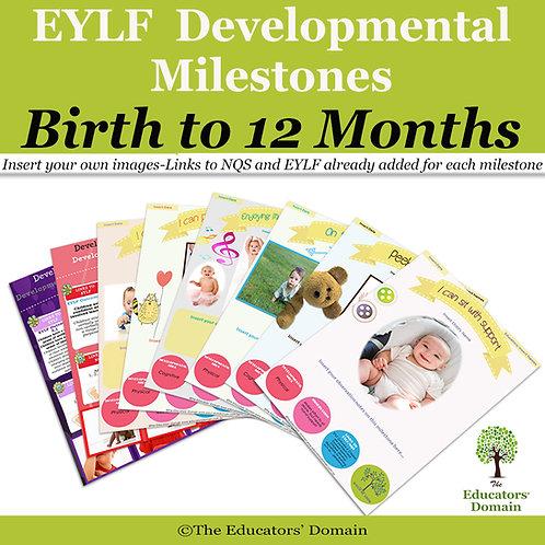 EYLF Developmental Milestones Birth - 12months