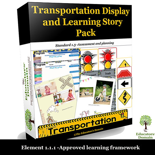 Transportation Play- Display and Learning Story Pack