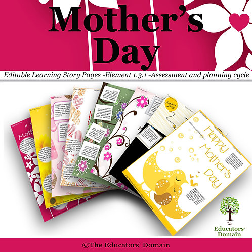 Mothers Day Learning Story Pack with Poems