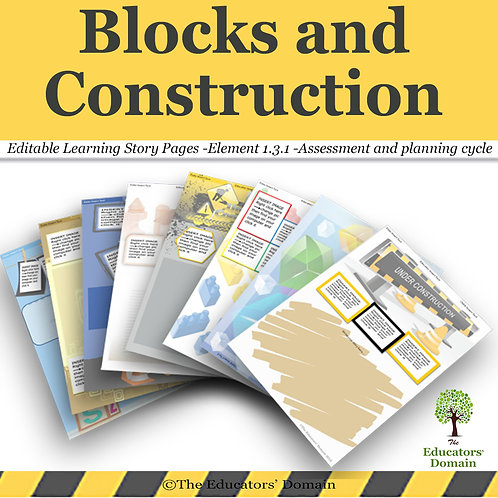 Blocks and Construction with Free Sign