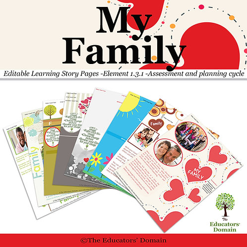 My Family Learning Story Pack