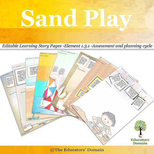 Sand Play Learning Story Pack