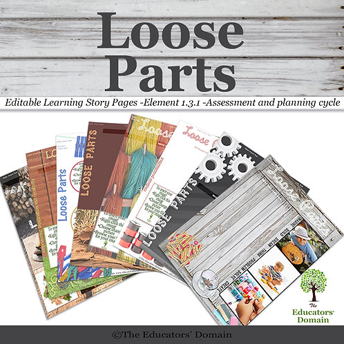 Loose Parts Learning Story Pack