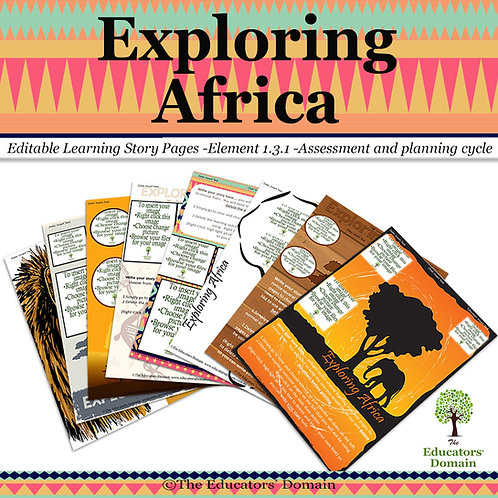 Exploring Africa Learning Story Pack