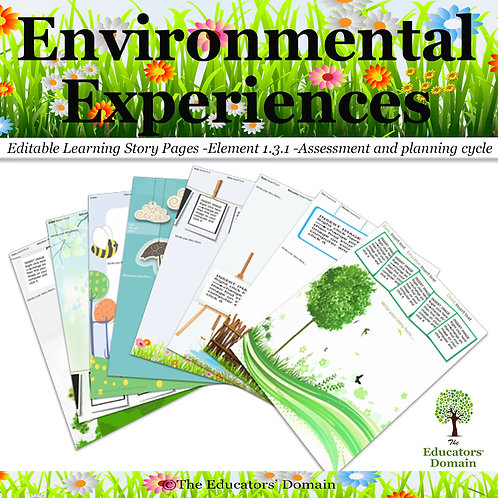 Environmental Experiences Learning Story Pack