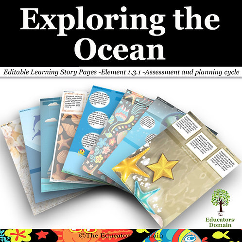 Exploring the Ocean Learning Story Pack