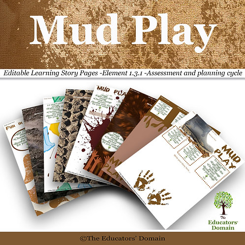 Mud Play Learning Story Pack
