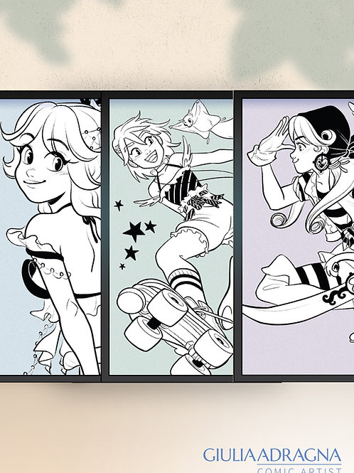 INK MAJOKKO   MAGICAL GIRLS • prints