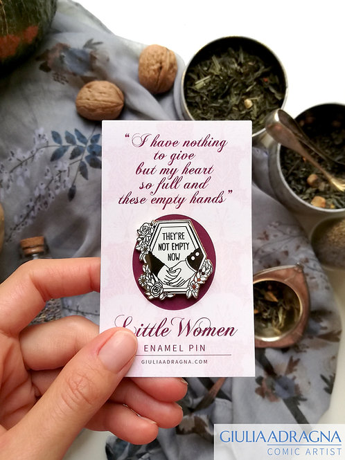 LITTLE WOMEN • enamel pin with quote