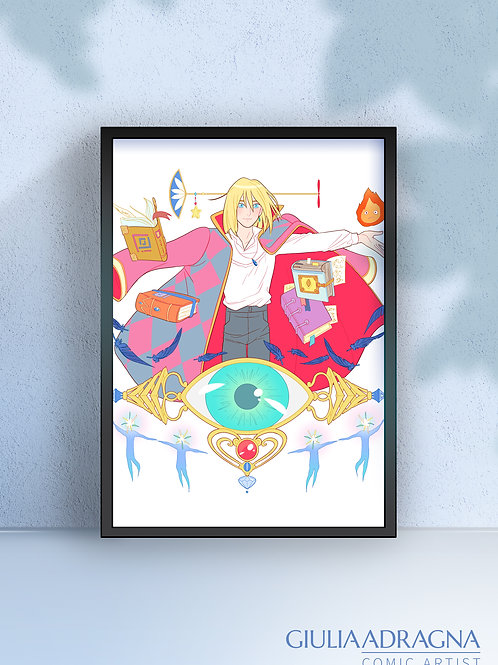 HOWL PENDRAGON the MAGICIAN | Howl's Moving Castle • print