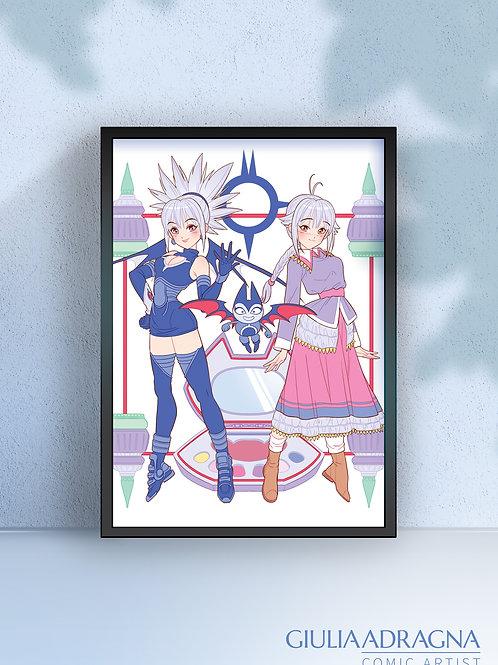 SHADOW LADY • MAJOKKO print