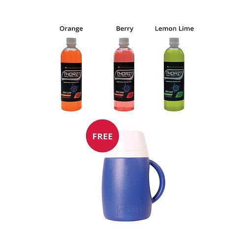 Bundle 4 x THORZT Liquid Concentrate 600mL Get Free 2.5L Cooler