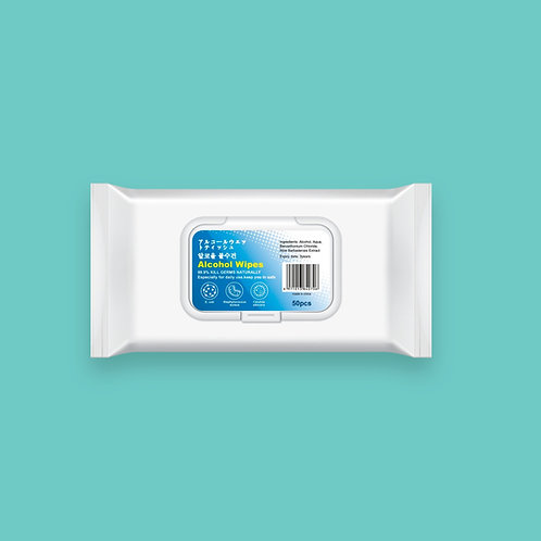 Antibacterial Wet Wipes 50PCS
